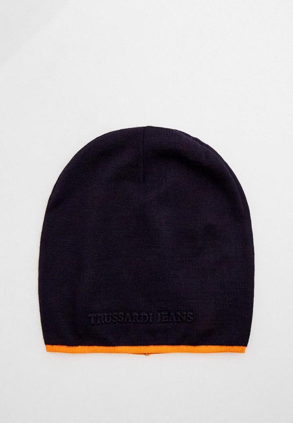 мужская шапка trussardi, синяя
