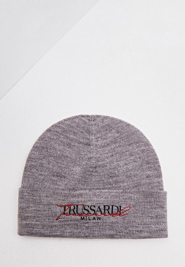 женская шапка trussardi, серая