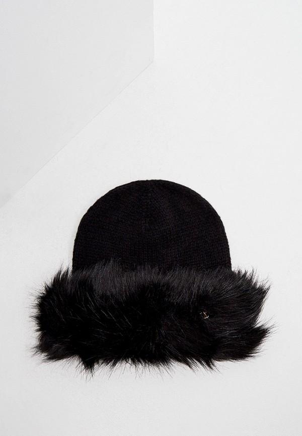 женская шапка trussardi, черная