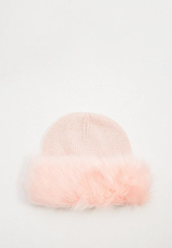 женская шапка trussardi, розовая
