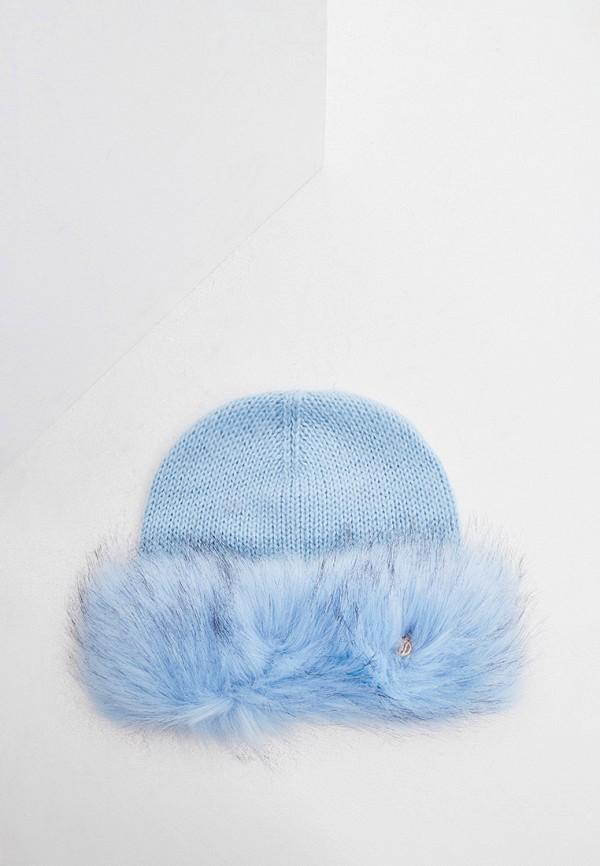 женская шапка trussardi, голубая