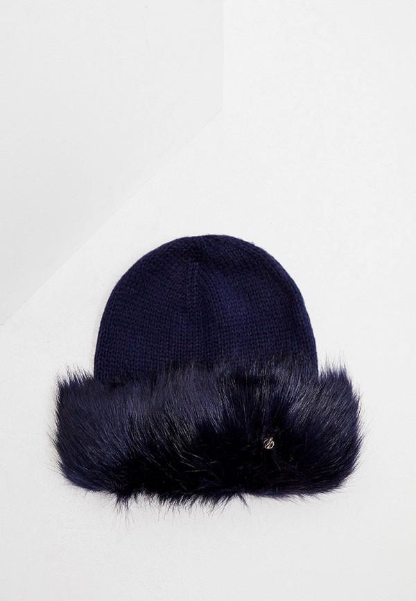 женская шапка trussardi, синяя