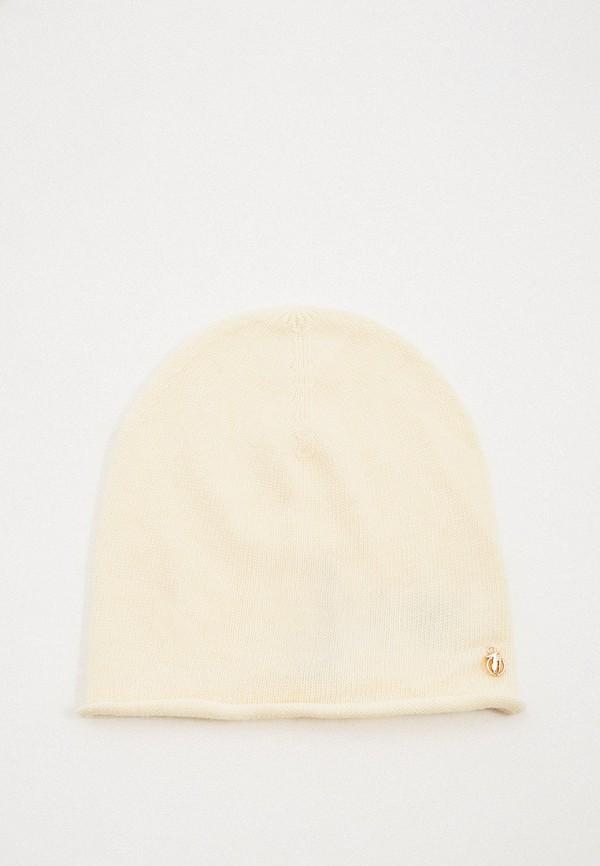 женская шапка trussardi, белая