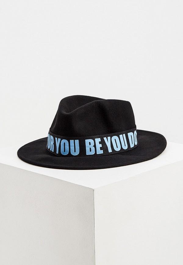 женская шляпа trussardi, черная