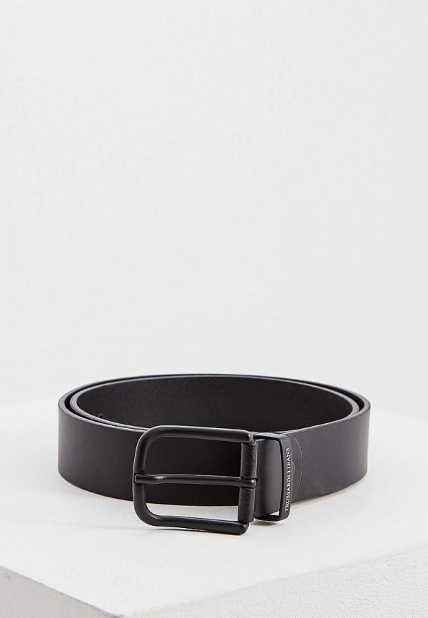 Фото - Ремень Trussardi Jeans черного цвета