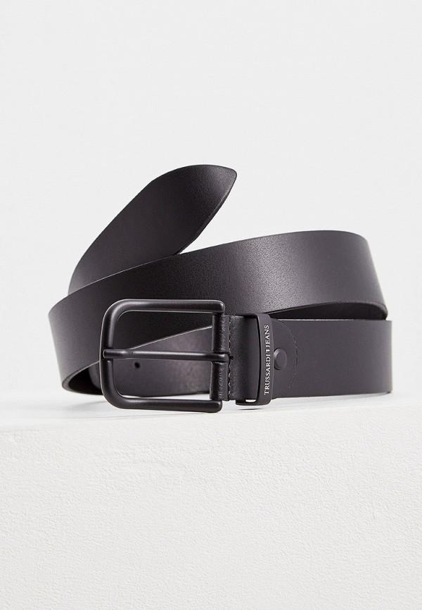 Фото 2 - Ремень Trussardi Jeans черного цвета