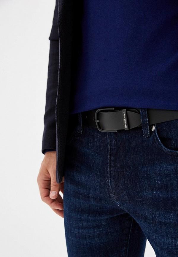 Фото 4 - Ремень Trussardi Jeans черного цвета