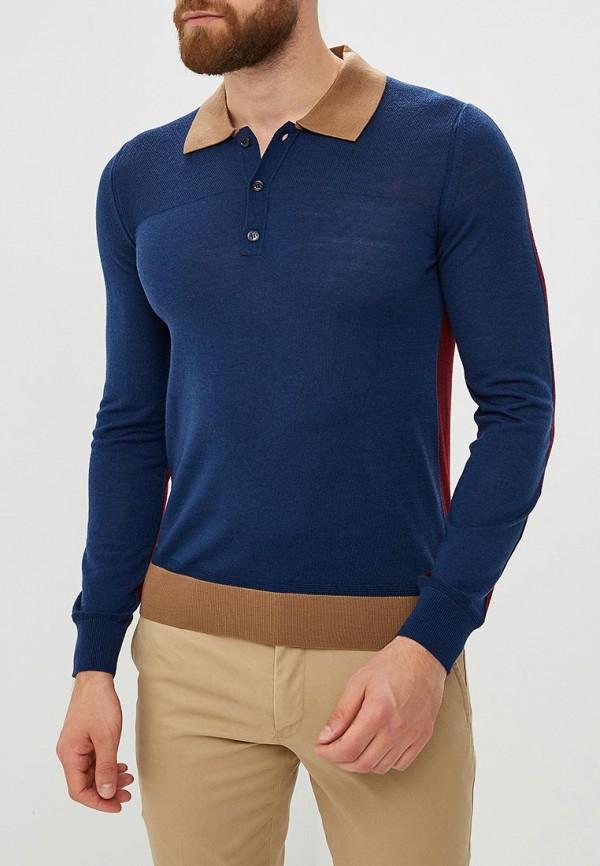 Купить Мужское поло Trussardi Jeans синего цвета