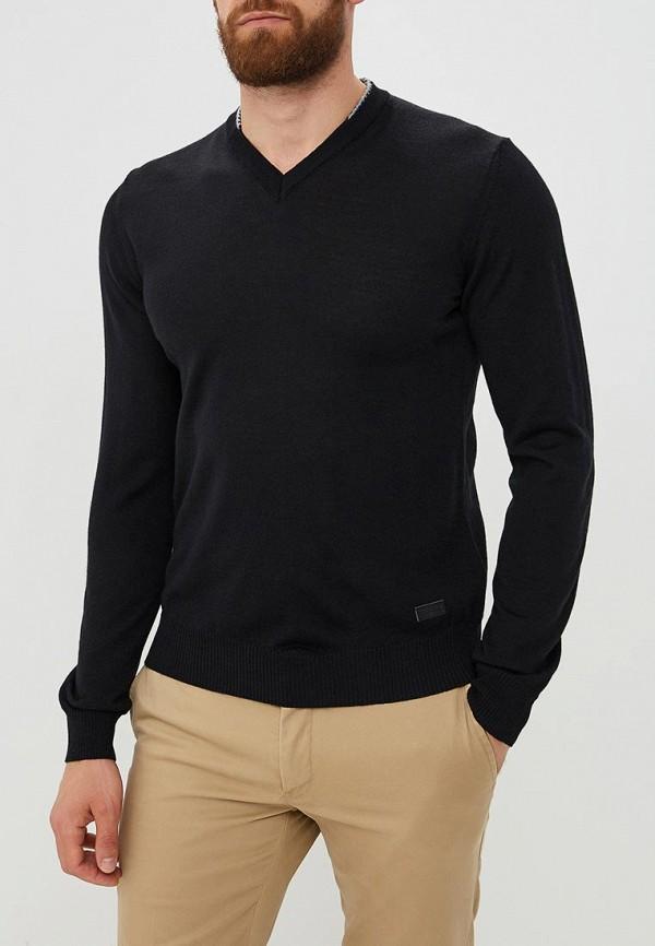 Купить Мужской пуловер Trussardi Jeans черного цвета