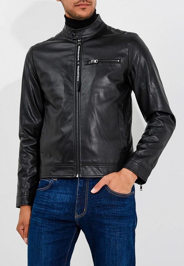 Куртка кожаная Trussardi Jeans Trussardi Jeans TR016EMBUVN2 куртка утепленная trussardi jeans trussardi jeans tr016emdobw5