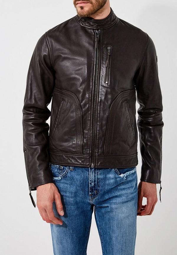 Купить Куртка кожаная Trussardi Jeans, tr016embuvn6, коричневый, Осень-зима 2018/2019