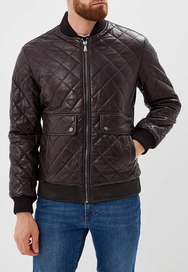 Купить Куртка кожаная Trussardi Jeans, tr016embuvn9, коричневый, Осень-зима 2018/2019