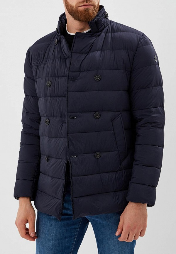 Купить Пуховик Trussardi Jeans, tr016embuvq1, синий, Осень-зима 2018/2019