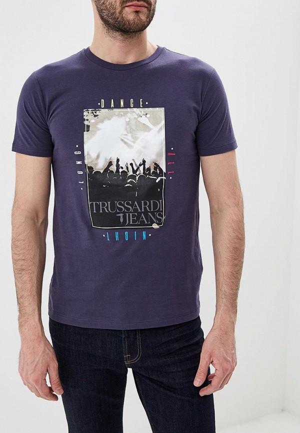 Футболка Trussardi Jeans Trussardi Jeans TR016EMDOCC1 футболка мужская trussardi jeans цвет темно синий 52t00230 1t001675 u290 размер xl 54
