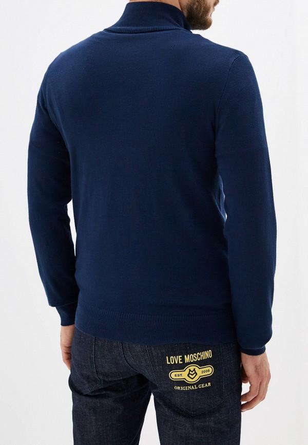 Фото 3 - мужскую водолазку Trussardi Jeans синего цвета