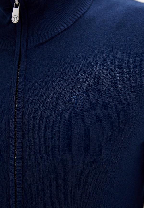 Фото 4 - мужской кардиган Trussardi Jeans синего цвета