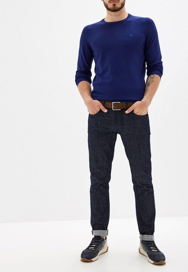 Фото 2 - мужское джемпер Trussardi Jeans синего цвета