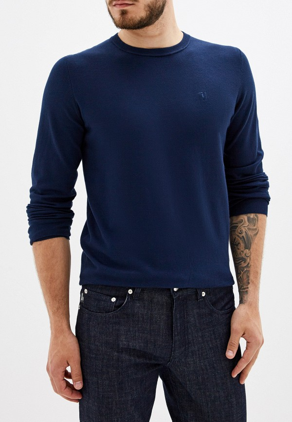 Купить Мужское джемпер Trussardi Jeans синего цвета