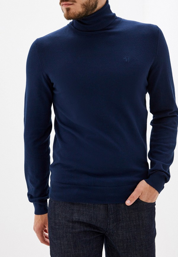 Фото - мужскую водолазку Trussardi Jeans синего цвета