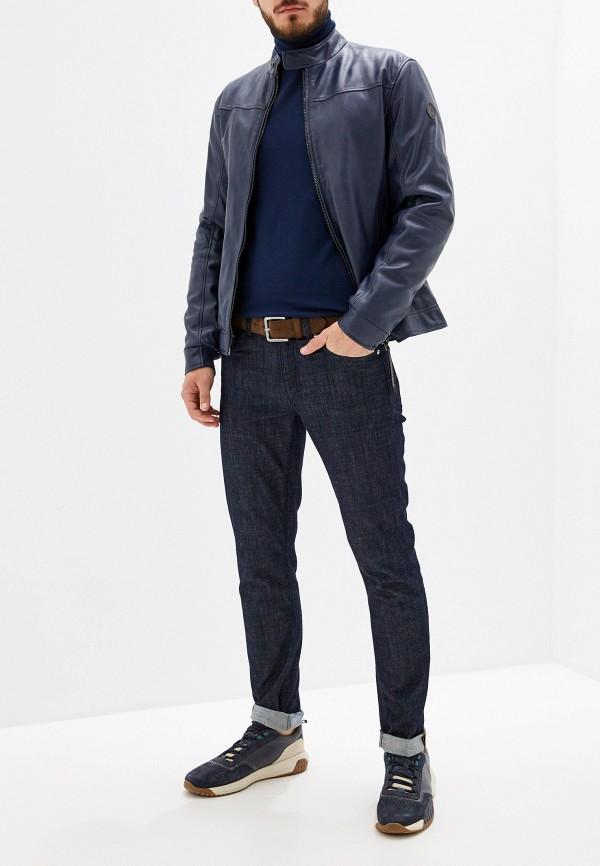 Фото 2 - мужскую водолазку Trussardi Jeans синего цвета