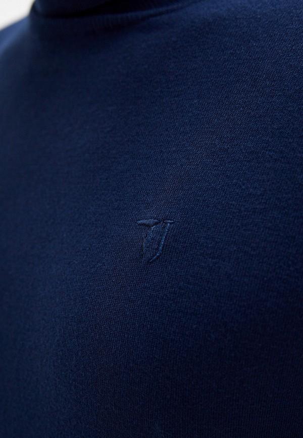 Фото 4 - мужскую водолазку Trussardi Jeans синего цвета