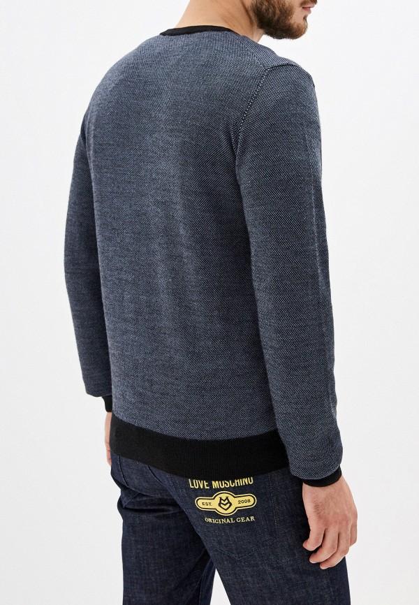 Фото 3 - мужское джемпер Trussardi Jeans синего цвета
