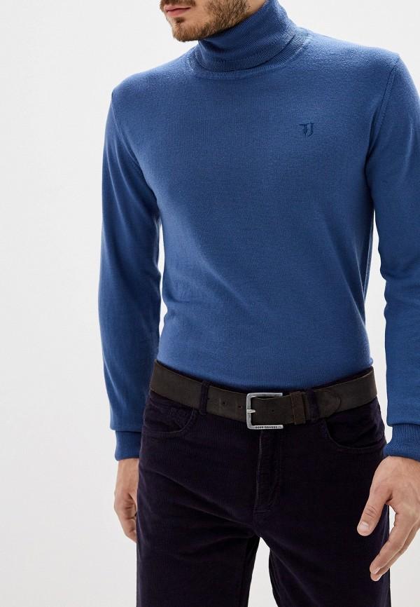 мужская водолазка trussardi, голубая