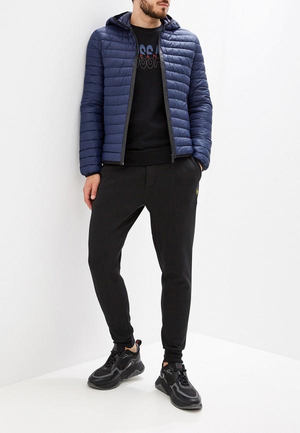 Фото 2 - Куртку утепленная Trussardi Jeans синего цвета
