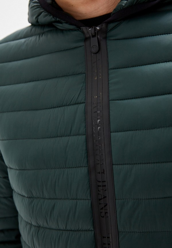 Фото 5 - Куртку утепленная Trussardi Jeans зеленого цвета