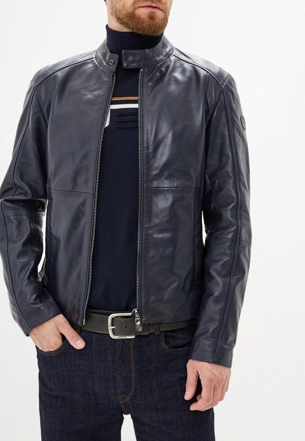 цена Куртка кожаная Trussardi Jeans Trussardi Jeans TR016EMFXDA3 в интернет-магазинах