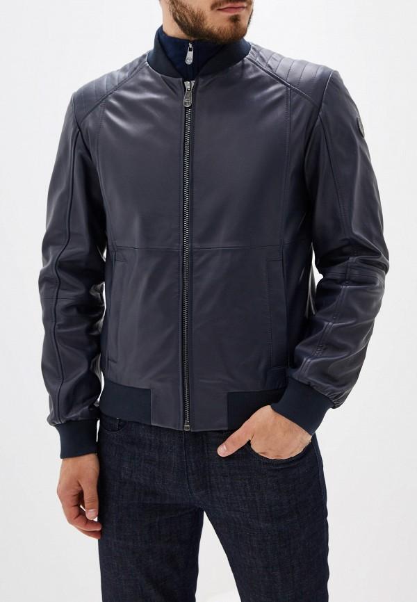 цена Куртка кожаная Trussardi Jeans Trussardi Jeans TR016EMFXDA5 в интернет-магазинах