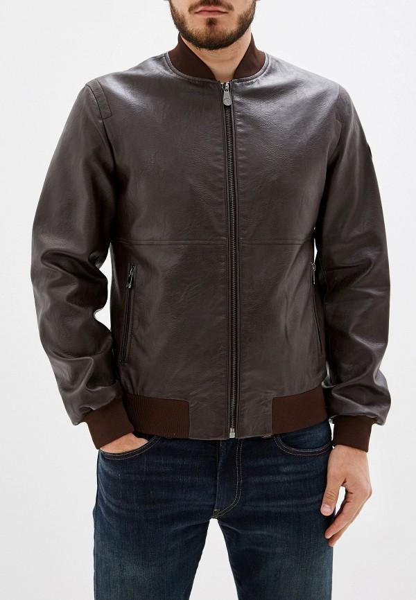 Фото - Куртку кожаная Trussardi Jeans коричневого цвета