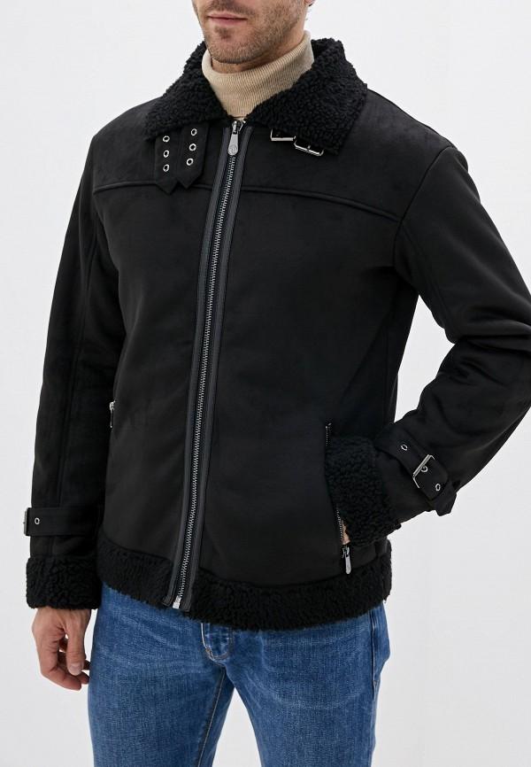 мужская дубленка trussardi, черная
