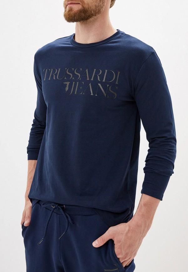 Купить Лонгслив Trussardi Jeans синего цвета