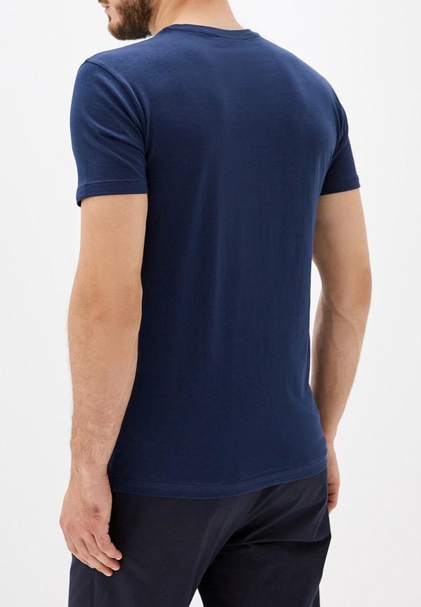 Фото 3 - мужскую футболку Trussardi Jeans синего цвета