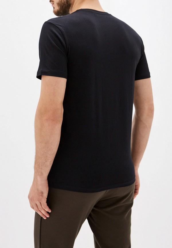 Фото 3 - мужскую футболку Trussardi Jeans черного цвета
