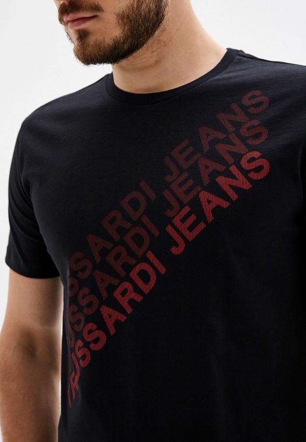 Фото 4 - мужскую футболку Trussardi Jeans черного цвета