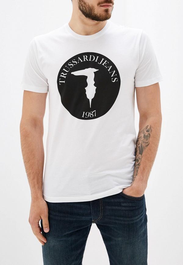 Фото - мужскую футболку Trussardi Jeans белого цвета