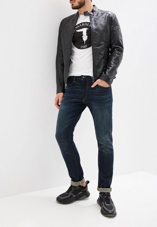 Фото 2 - мужскую футболку Trussardi Jeans белого цвета