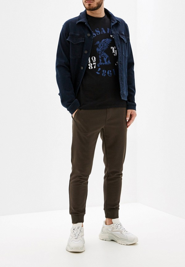 Фото 2 - мужскую футболку Trussardi Jeans черного цвета