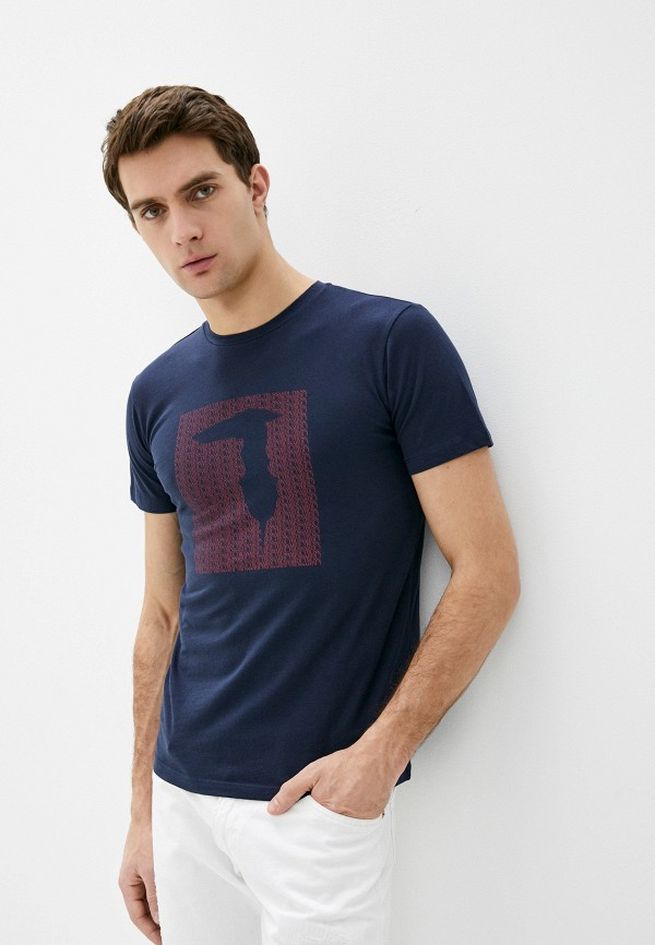 мужская футболка trussardi, синяя