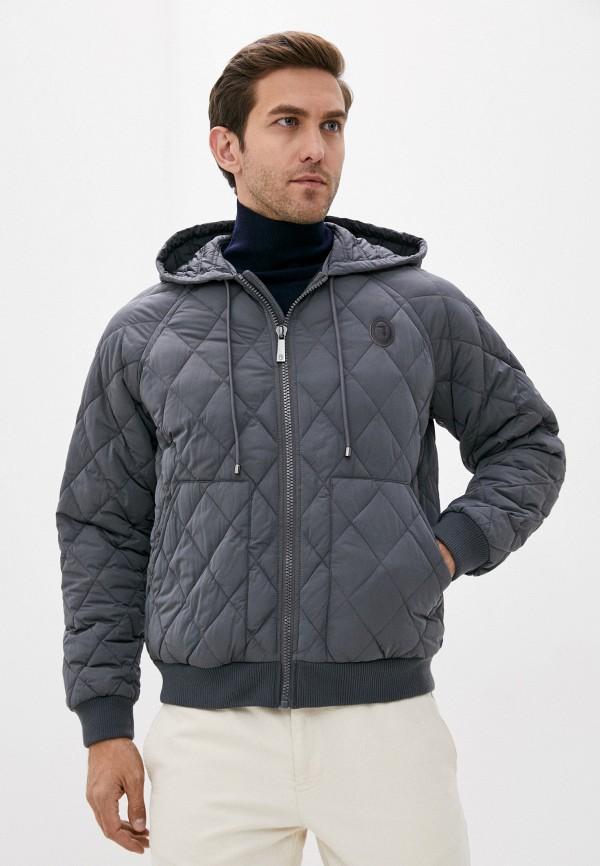 мужская куртка trussardi, серая