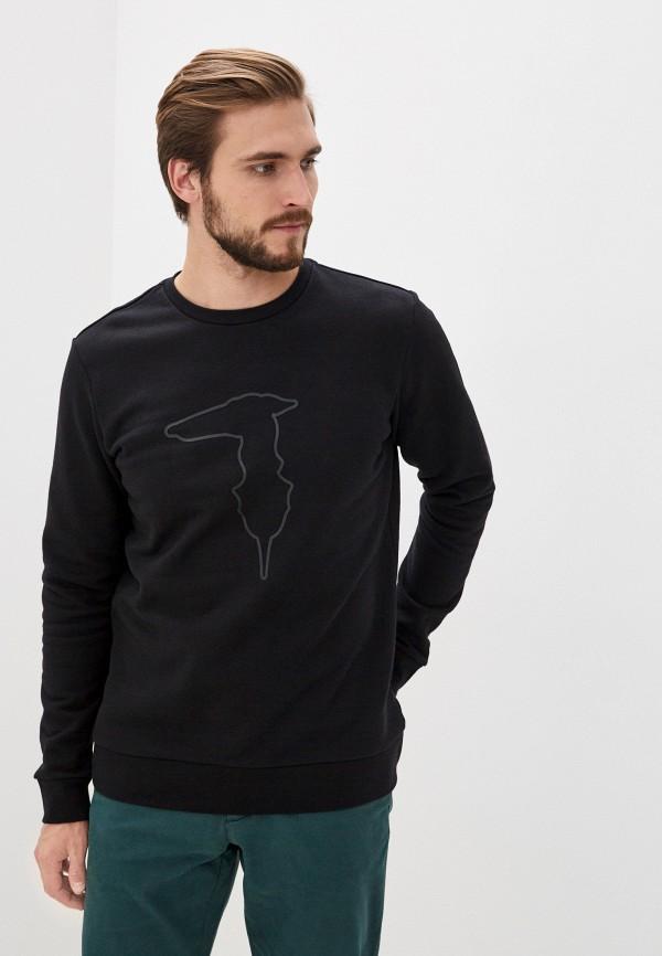мужской свитшот trussardi, черный