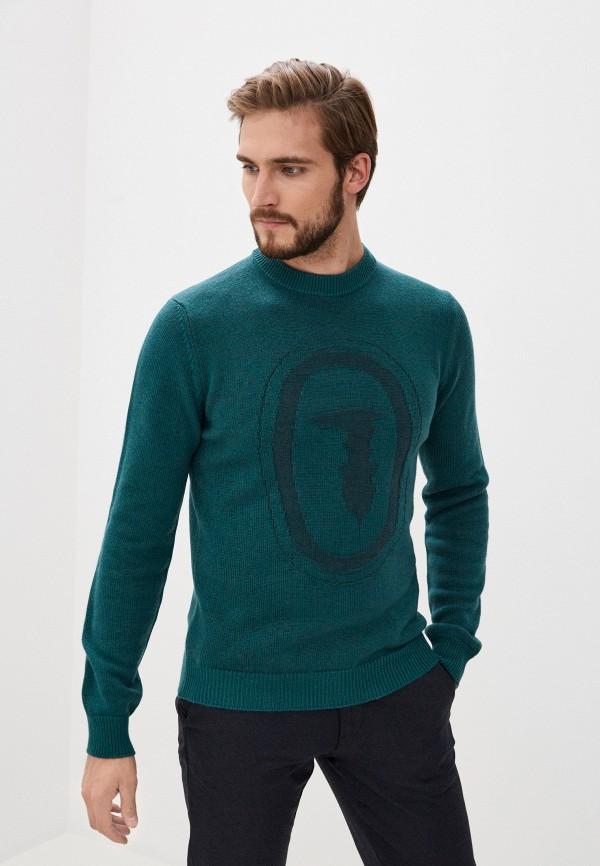 мужской джемпер trussardi, зеленый