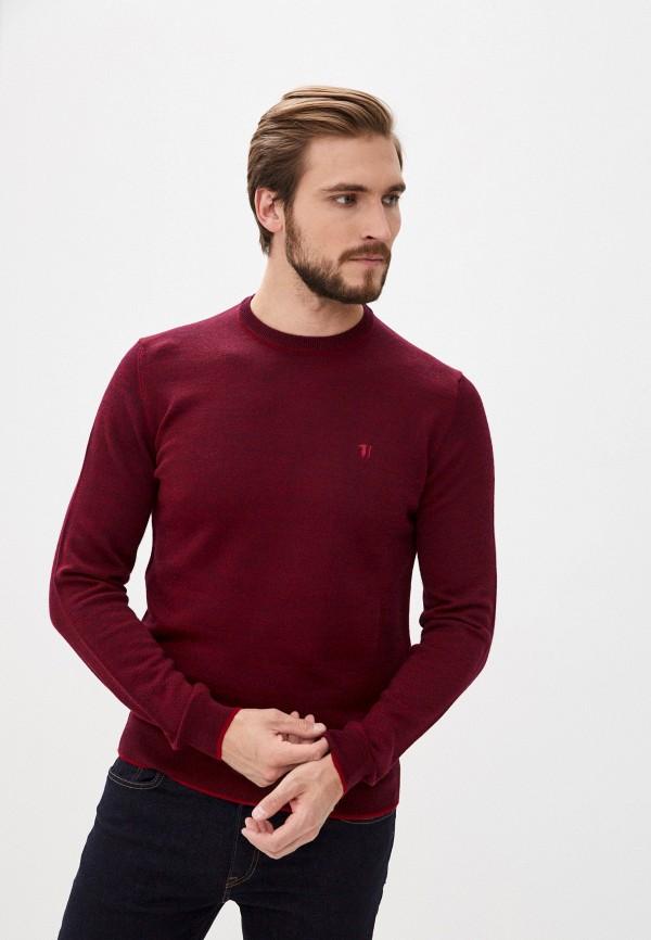 мужской джемпер trussardi, бордовый