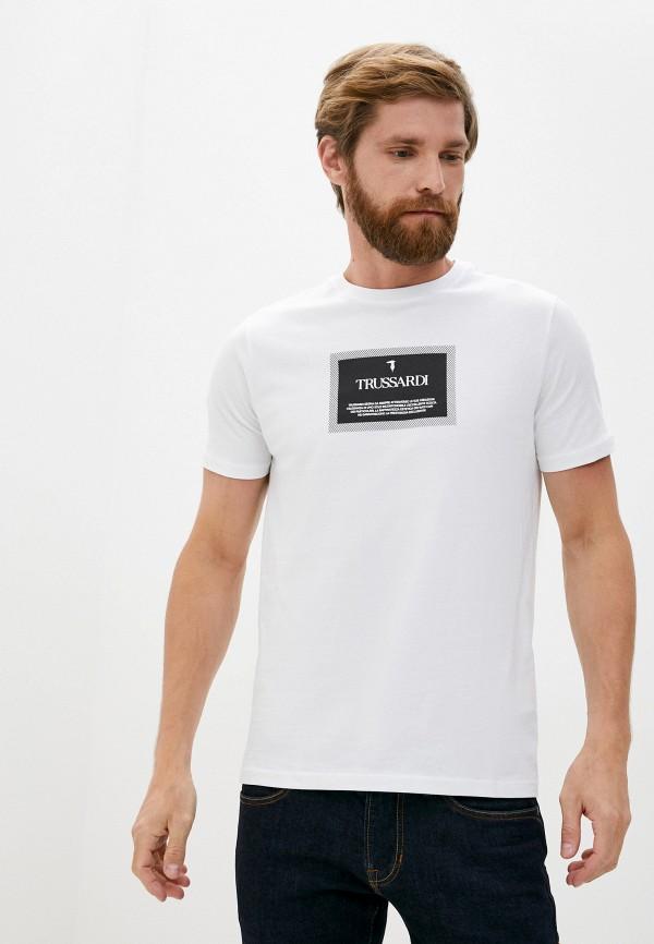 мужская футболка trussardi, белая