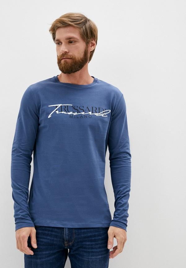 мужской лонгслив trussardi, синий