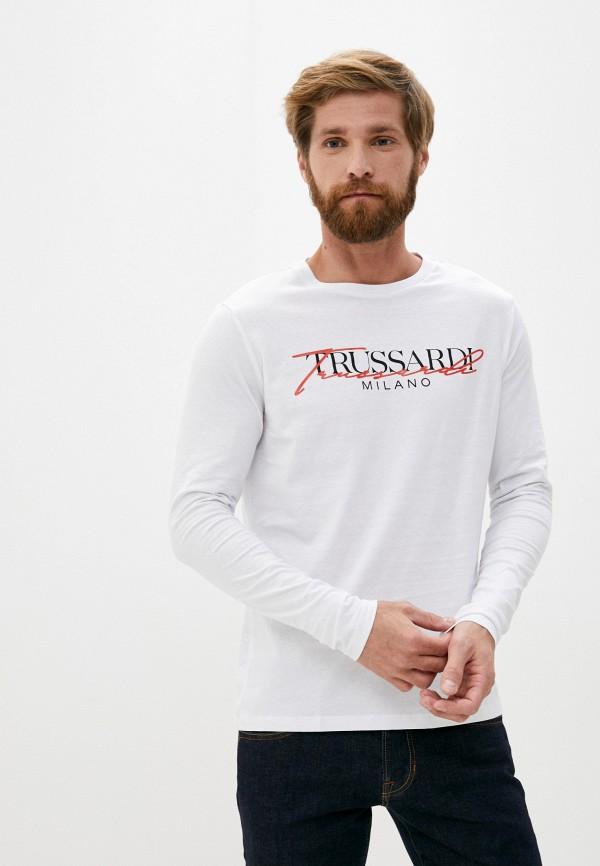 мужской лонгслив trussardi, белый