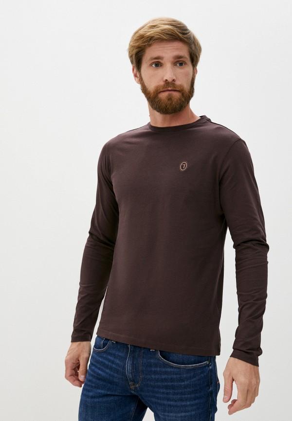 мужской лонгслив trussardi, коричневый
