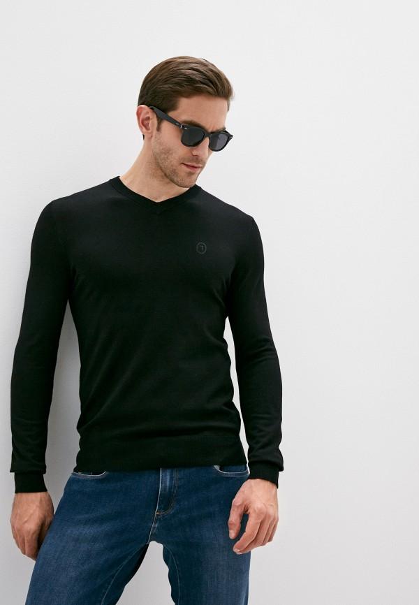 мужской пуловер trussardi, черный